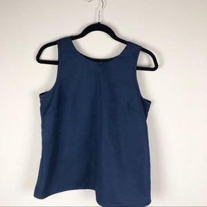 Jcrew wrap back sleeveless blouse - navy